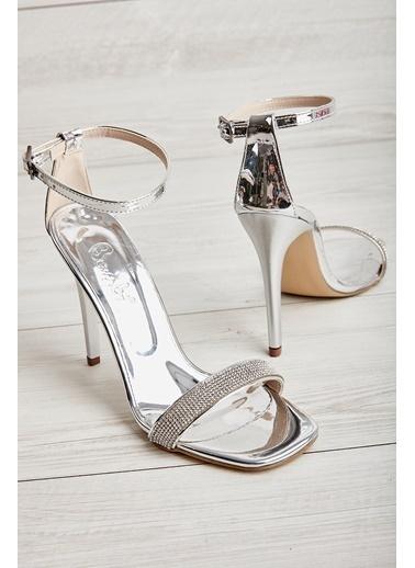 Bambi Kadın Abiye Ayakkabı L0527472472 Gümüş